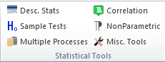 statistical tools ribbon