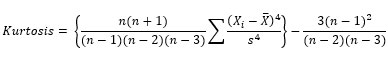 kurtosis equation