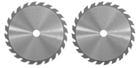 two saw blades