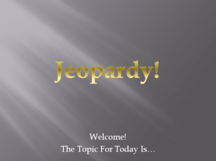 SPC Jeopardy Cover Page