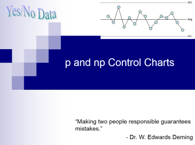 p and np control charts complete teaching guide