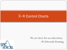 xbar and r control chart complete teaching guide